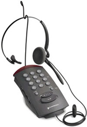 T-10 Single-line headset telephone w/base keyboard